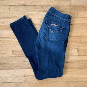 Hudson Collin Flap Skinny Jeans - Dark Wash - 28